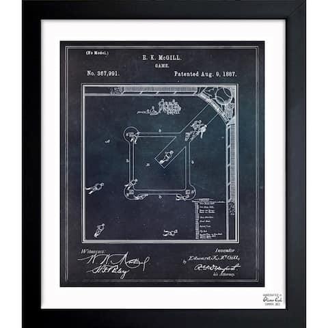 Oliver Gal 'Baseball Game 1887' Framed Blueprint Art