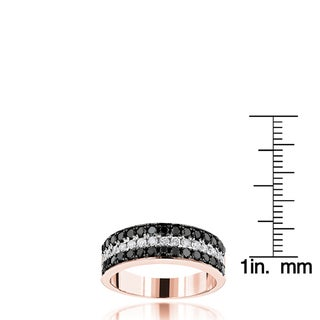 Luxurman 10k Gold 1 1/3 CT TDW Unique 3-row Diamond Wedding Band (H-I, SI1-SI2)