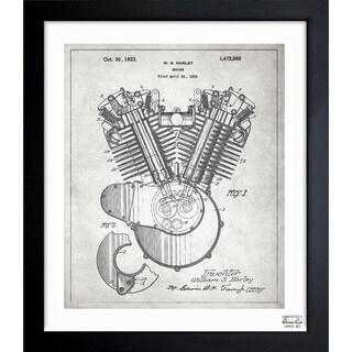 Oliver Gal 'Harley Engine 1923' Framed Blueprint Art
