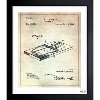 'Animal-trap 1894' Framed Blueprint Art