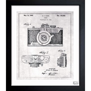 Oliver Gal 'Cazin Camera 1940 Grey' Framed Blueprint Art