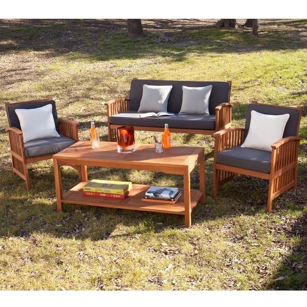 Harper Blvd Charlotte Outdoor 4 Piece Deep Seat Patio Set