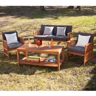 Harper Blvd Charlotte Outdoor 4-piece Deep Seat Patio Set