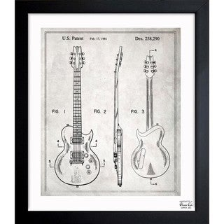 Link to Oliver Gal 'Electric Guitar 1981' Framed Blueprint Art Similar Items in Canvas Art
