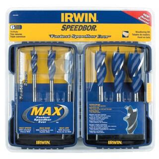 Irwin Speedbor 3041006 6 Piece Speedbor Max Spade Bit Set