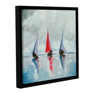 Stuart Roy's ' Three Boats II' Gallery Wrapped Floater-framed Canvas