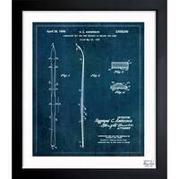 Oliver Gal 'Laminated Ski 1936' Framed Blueprint Art