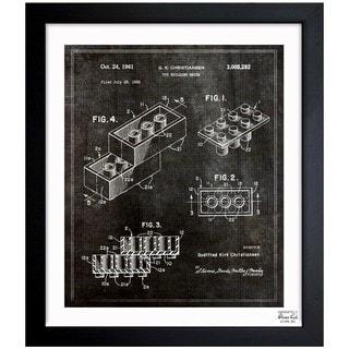 Oliver Gal 'Lego Toy Building Brick 1961' Framed Blueprint Art