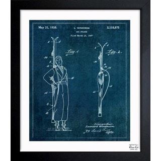 Oliver Gal 'Ski Holder 1938' Framed Blueprint Art