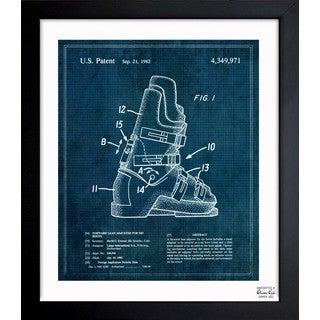 'Ski Boots 1982' Framed Blueprint Art