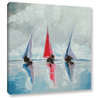 Stuart Roy's ' Three Boats II' Gallery Wrapped Canvas