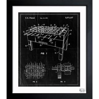 'Table Soccer Game 1991' Framed Blueprint Art