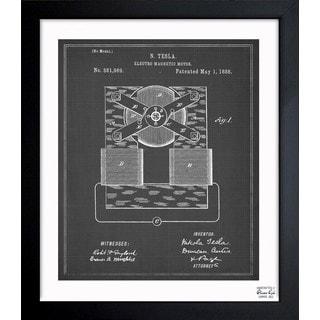 'Tesla Motor 1888' Framed Blueprint Art