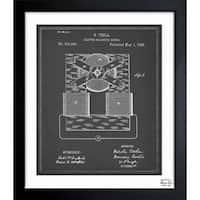 Oliver Gal 'Tesla Motor 1888' Framed Blueprint Art