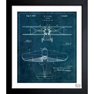 Oliver Gal 'Airplane 1929' Framed Blueprint Art