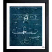 Oliver Gal 'Airplane 1929' Framed Blueprint Art