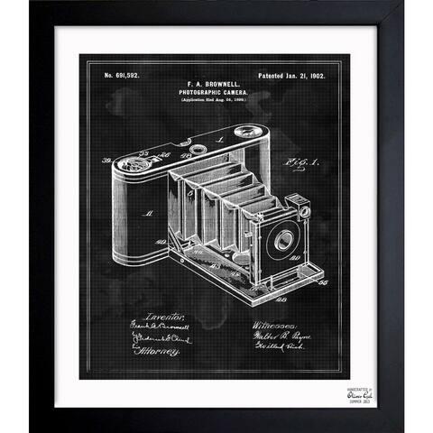 Oliver Gal 'Photographic Camera 1902' Framed Blueprint Art