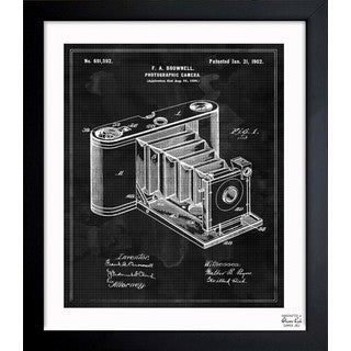 Oliver Gal 'Photographic Camera 1902' Framed Blueprint Art