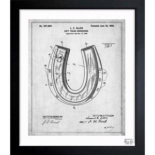 Oliver Gal 'Horseshoe 1898' Framed Blueprint Art