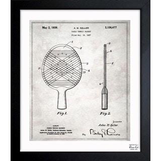 'Table Tennis Racket 1939' Framed Blueprint Art