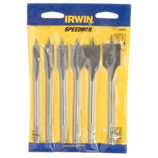 Irwin Speedbor 88886 6 Piece Speedbor 2000 Flat Wood Boring Bits