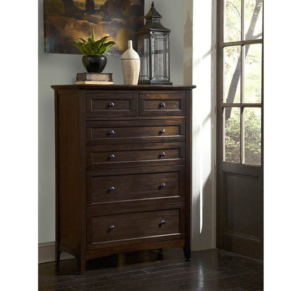 Shop Simply Solid Garrett Solid Wood 6 Drawer Chest   Free Shipping Today    Overstock.com   11535148