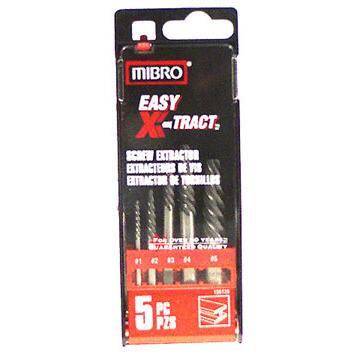 Mibro 155120 5 Piece SetSpiral Flute Screw Extractors