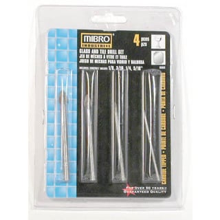 Mibro 456831 4 Piece Set Glass & Tile Drill Bits
