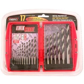 Mibro 871140 17 Piece Set High Speed Steel Metal Master Drill Bit
