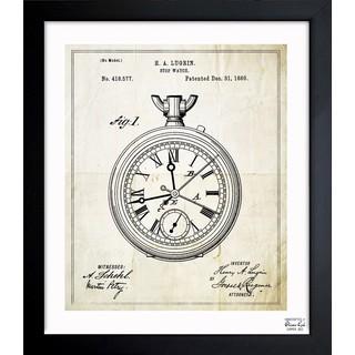 Oliver Gal 'Stop-Watch 1889' Framed Blueprint Art