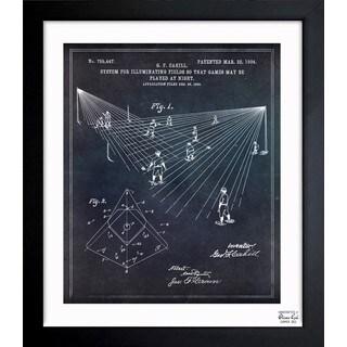 Oliver Gal 'Baseball Field Lighting 1904' Framed Blueprint Art