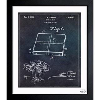 'Baseball Base 1951' Framed Blueprint Art