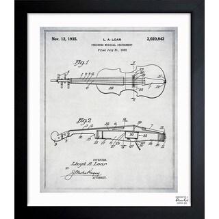 'Stringed Musical Instrument 1933' Framed Blueprint Art