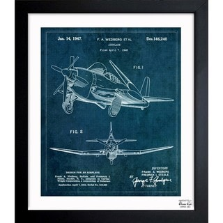 Link to Oliver Gal 'Airplane 1947' Framed Blueprint Art Similar Items in Canvas Art