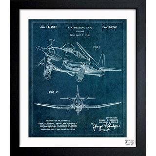 Oliver Gal 'Airplane 1947' Framed Blueprint Art