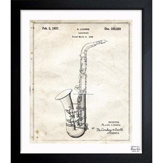 Oliver Gal 'Saxophone 1937' Framed Blueprint Art