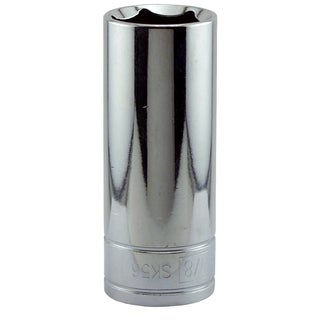 "Great Neck SK56 7/8"" X 1/2"" Drive 6 Point Deep Well Socket Standard"