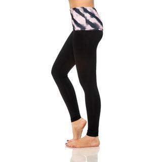 S2 Sportswear Women's Tiger Print Foldover Yoga Pants