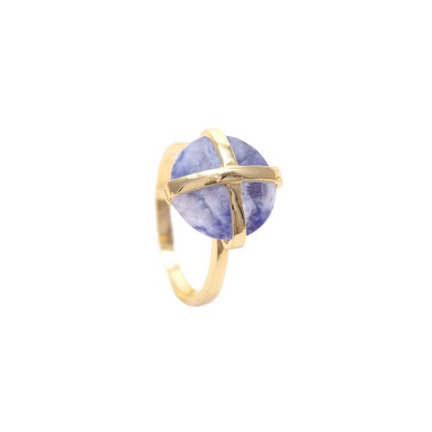 Alchemy Jewelry Gold Overlay Sodalite Gemstone Ring