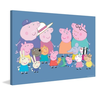 Marmont Hill 'Friends & Family II' Peppa Pig Painting Print on Canvas