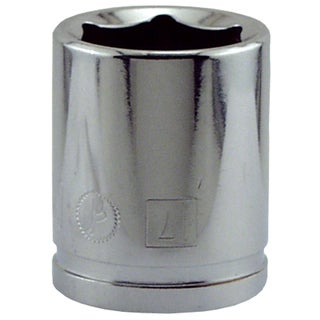 """Great Neck SK17M 17MM X 3/8"""" Drive 6 Point Socket Metric"""