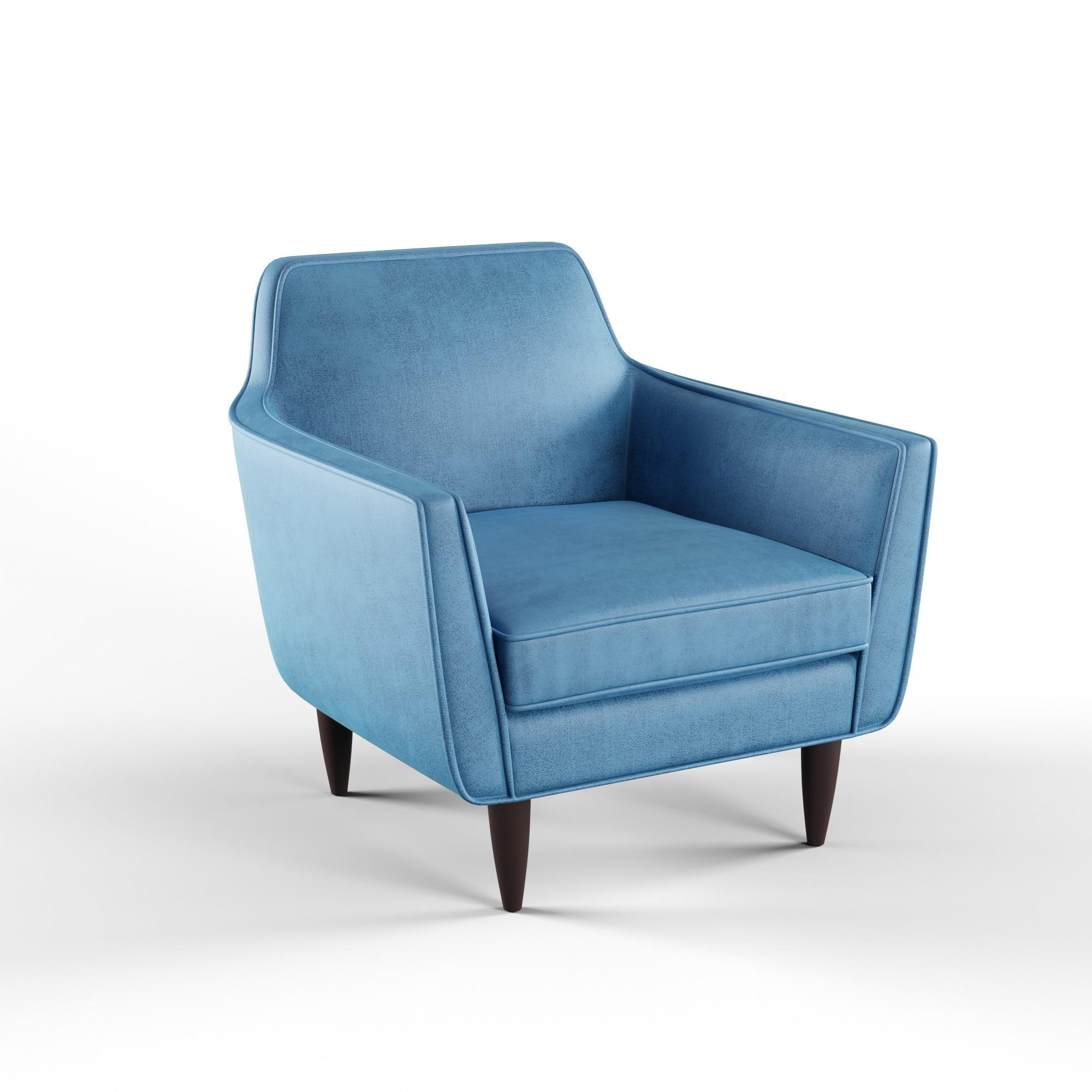 Shop Carson Carrington Honefoss Mid-century Sapphire Accent Chair ...
