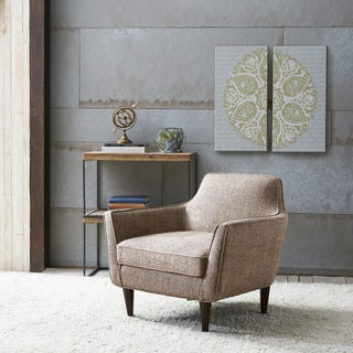 Cruz Mid Century Tan Tweed Chair