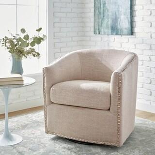 Jasper Laine Tyler Deauville Hemp Swivel Chair