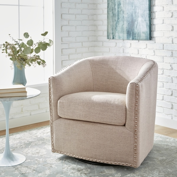 living room swivel chairs shop jasper deauville hemp swivel chair free 12202