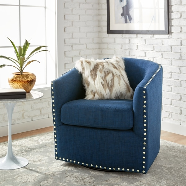 Jasper Laine Tyler Roma Navy Swivel Chair