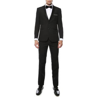 Paul Lorenzo 1969 by Ferrecci Mens Black Slim Fit 2pc Tuxedo|https://ak1.ostkcdn.com/images/products/11535364/P18482163.jpg?impolicy=medium