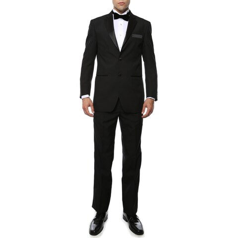 Paul Lorenzo 1969 By Ferrecci Black Regular Fit 2pc Tuxedo