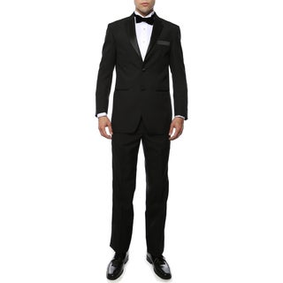 Paul Lorenzo 1969 By Ferrecci Black Regular Fit 2pc Tuxedo (Option: 40l)