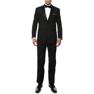 Paul Lorenzo 1969 By Ferrecci Black Regular Fit 2pc Tuxedo|https://ak1.ostkcdn.com/images/products/11535373/P18482164.jpg?impolicy=medium